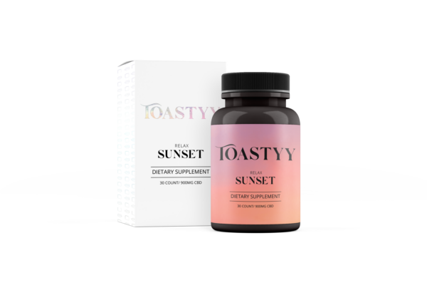 toastyy sunset dietary cbd supplement 900mg